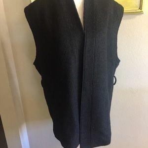 Scotch and soda maison scotch wool blend blk vest